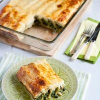 Cannelloni with Spinach, Anthotiro Crust and Yogurt